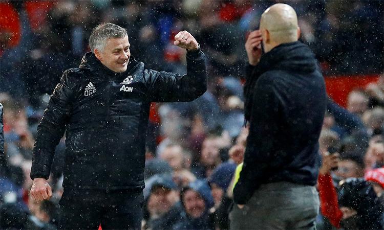 Solskjaer giúp Man Utd cải thiện đáng kể kết quả đối đầu với các đối thủ mạnh. Ảnh: Reuters.