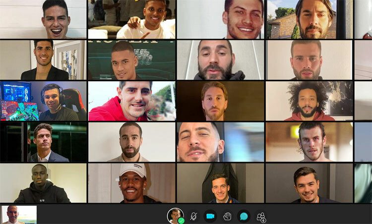 Ảnh môphỏng cuộc họp giữa Zidane và các cầu thủ. Ảnh: Marca.
