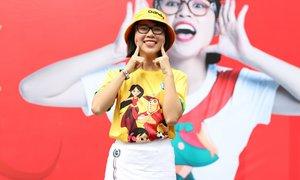 Youtuber Thơ Nguyễn giao lưu với các runner nhí