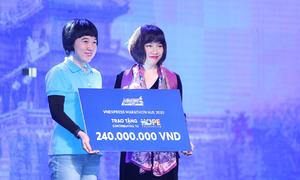 VnExpress Marathon Huế trao 240 triệu đồng cho quỹ Hope